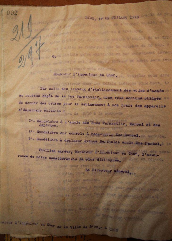 Correspondance des OTL, 1913