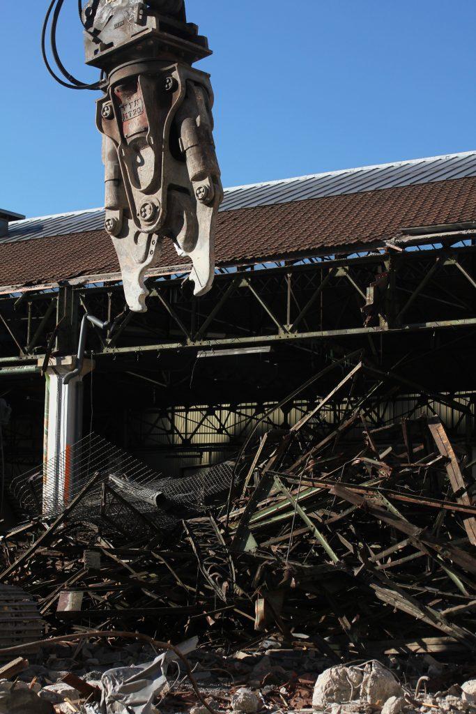 Démantèlement du toit