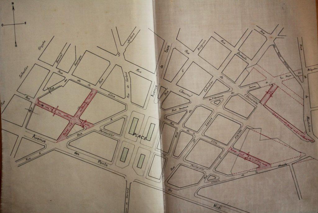 Pan de mise en viabilité, 922 W 81 3, Archives Municipales de Lyon