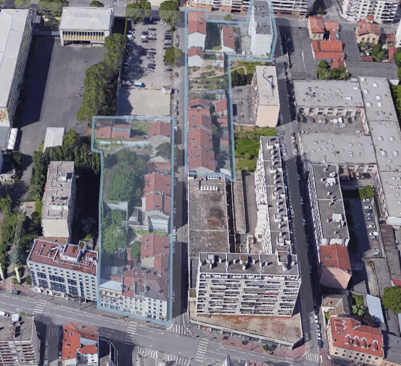Gratte ciel Nord, projet, Rue Léon Chomel et Jean Bourgey démolition