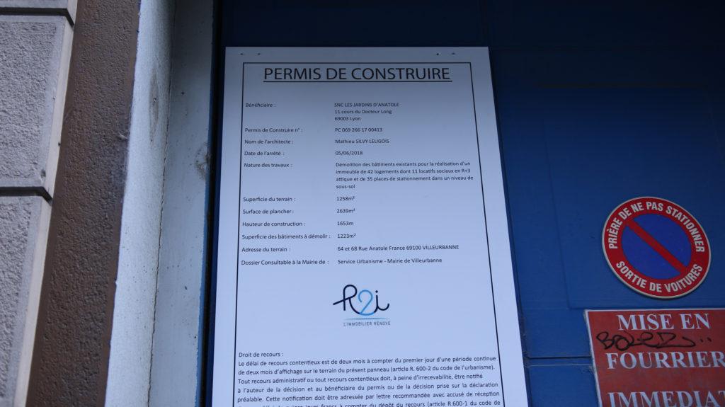 N° 64 rue anatole France, villeurbanne