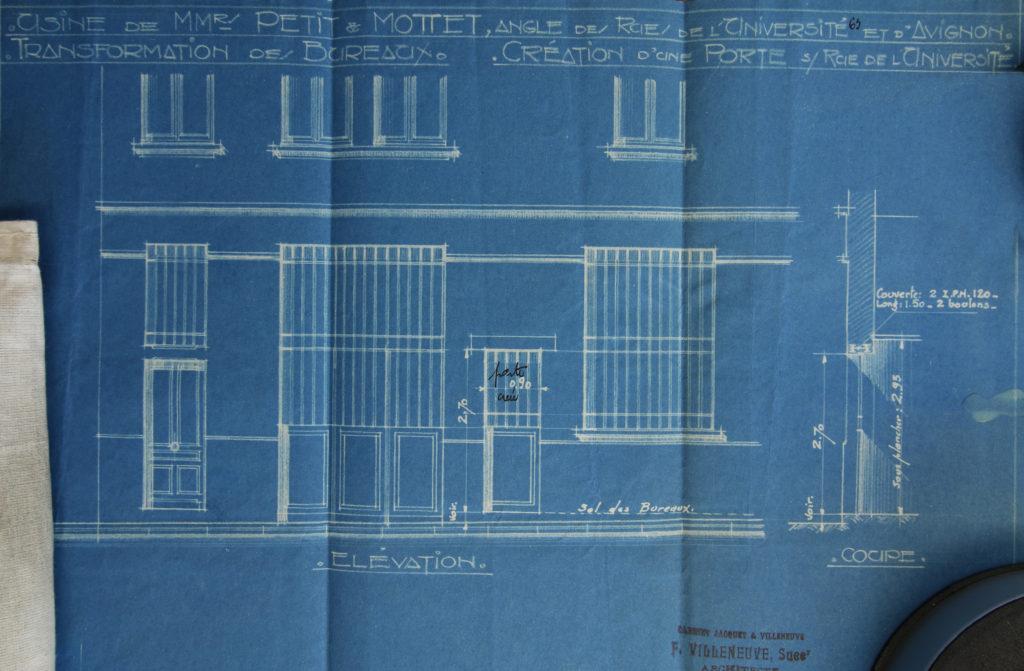 Autorisation de percer une ouverture sur la rue de l'univesité, architecte villeneuve 4 octobre 1933- 344W1169- AML