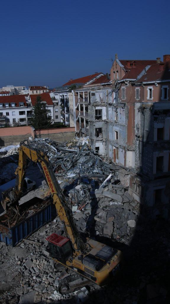 hôpital des Charmettes démolition